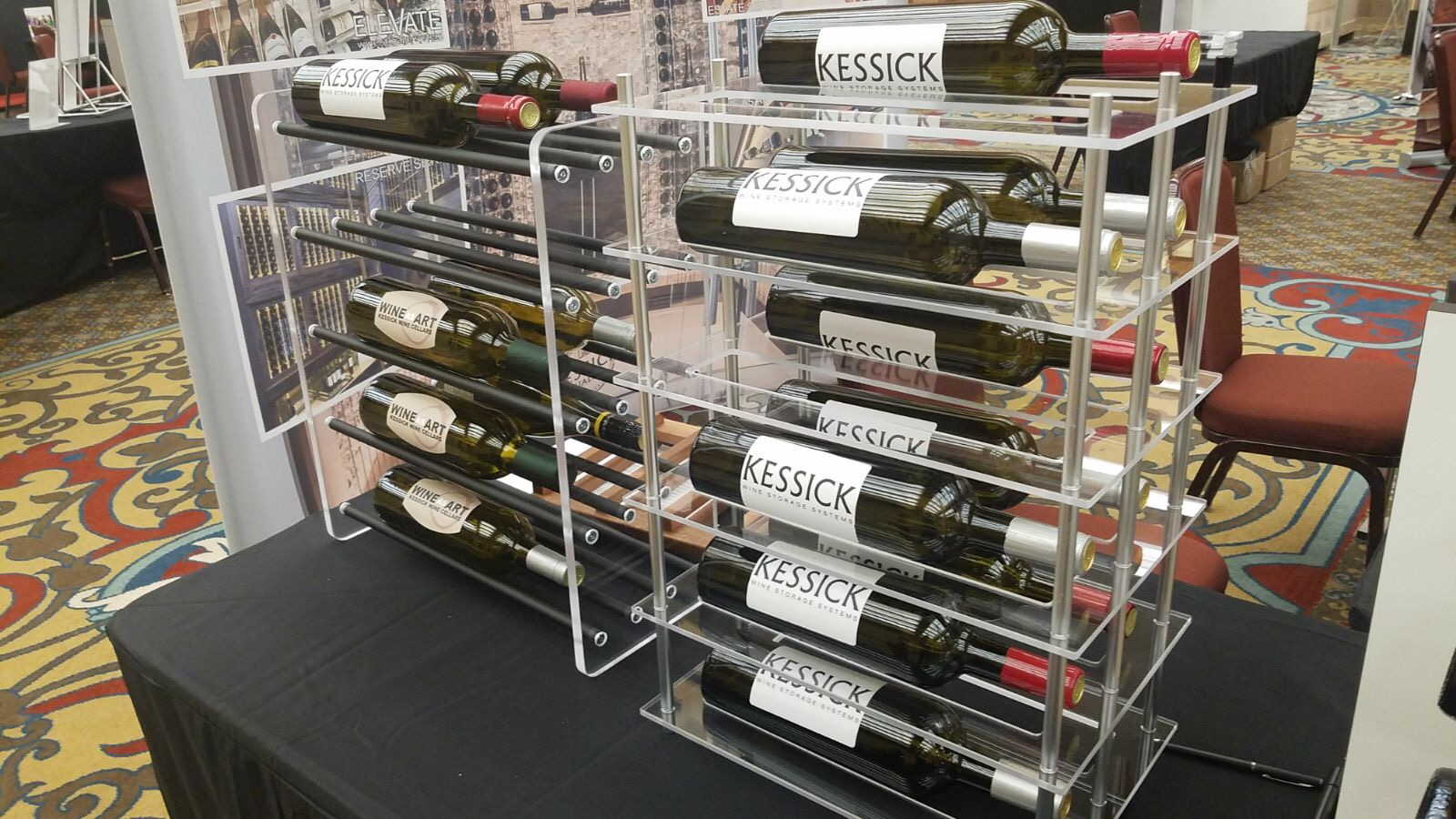 Kessick Wine Cellars display at SEN Design Group Fall 2017 Conference
