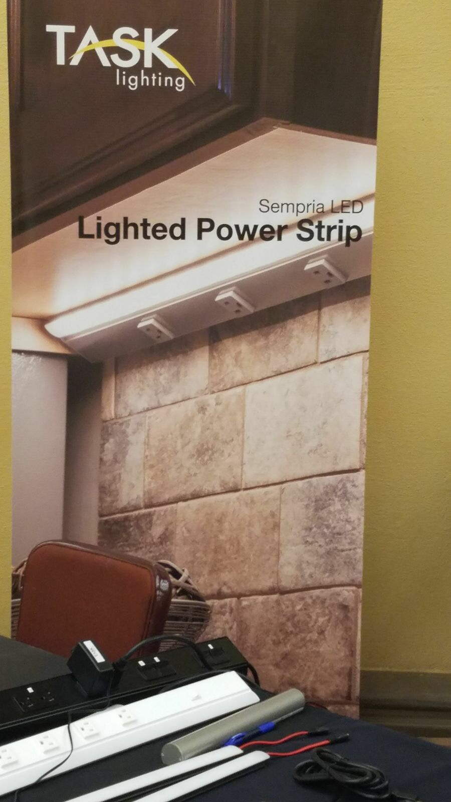 Task Lighting lighted power strip displayed at SEN Fall 2017 Conference
