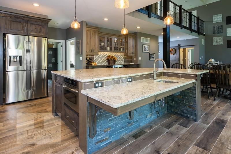 Kitchen design with large refrigerator
