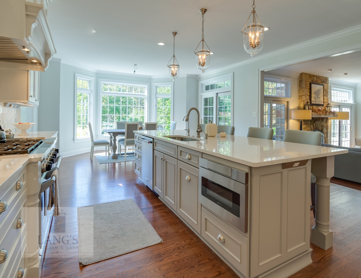 kitchen design with large oven and range