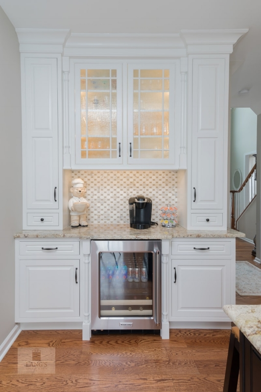 kitchen design with beverage center