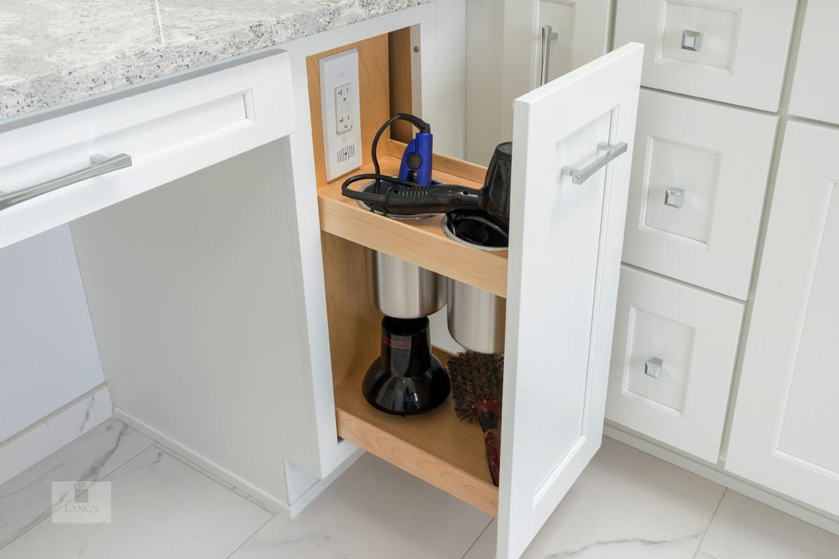 Customized bathroom storage accessories