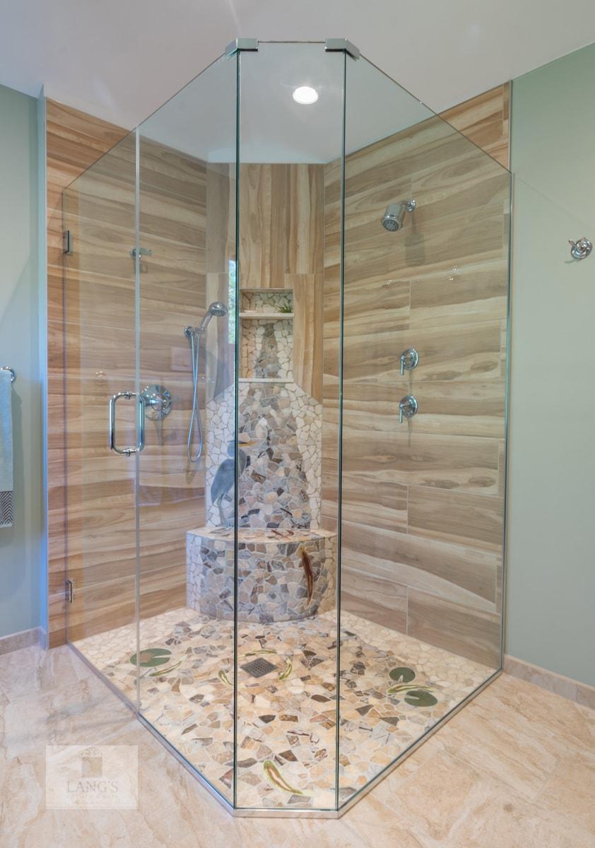 frameless glass shower design