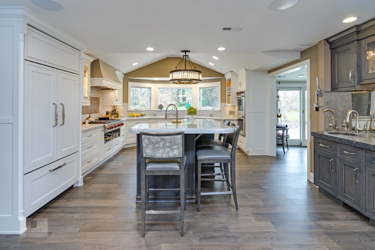 open plan kitchen design with island
