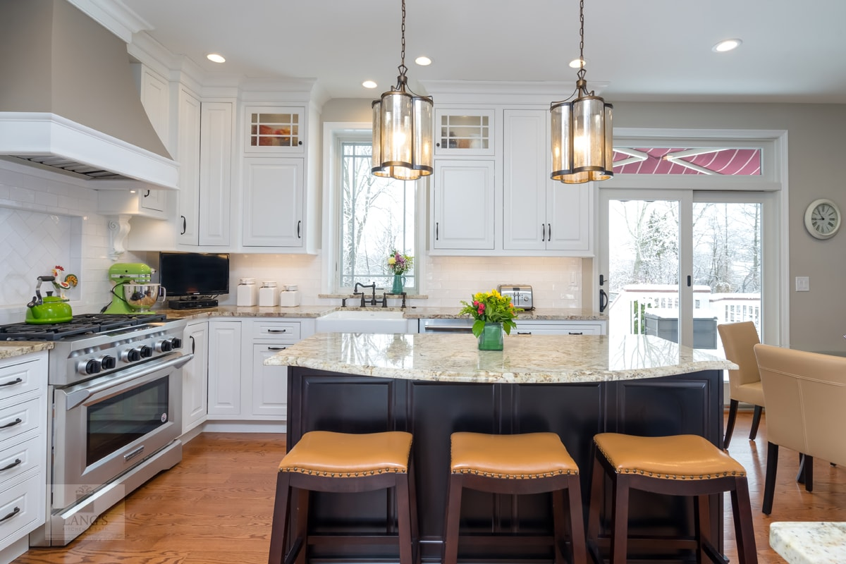 kitchen island with barstool seating