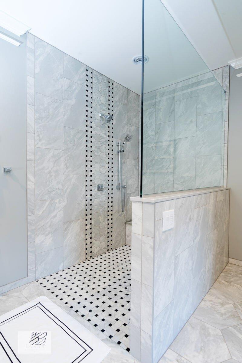 bathroom design with open shower