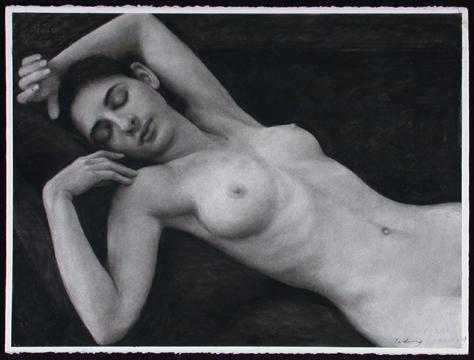 """Sleeping Figure  22"""" x 30"""""""