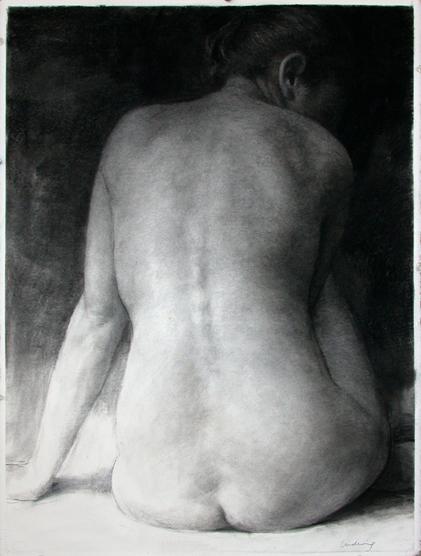 """Woman: Back View  30"""" x 22"""""""