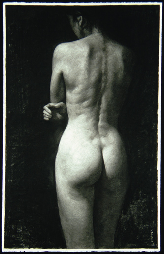 "Nude; Back View  26"" x 41"""