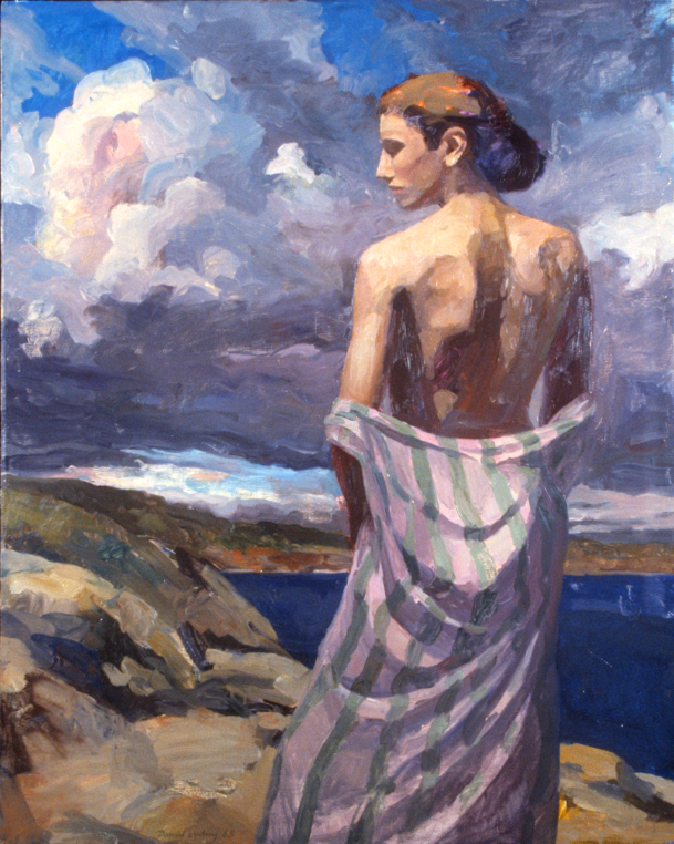 """Figure and Clouds I  40"""" x 50"""""""