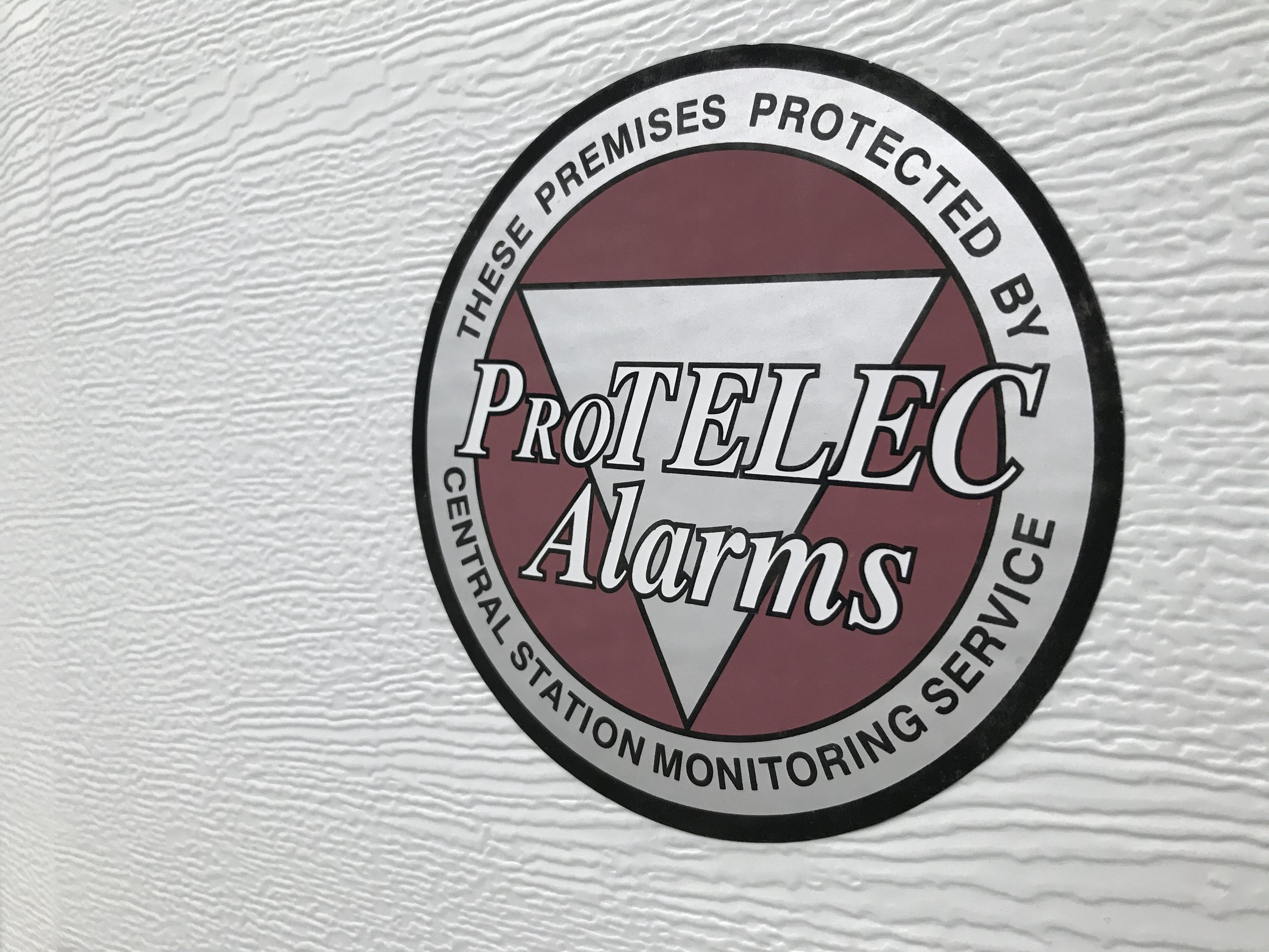Tip #2 - Make sure alarm stickers are easily visible around your house