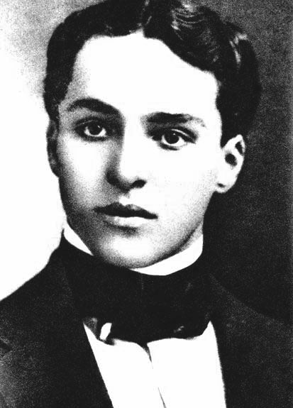 Charlie Chaplin at a young age, taken from page 125 of Charles Chaplin: My Autobiography.