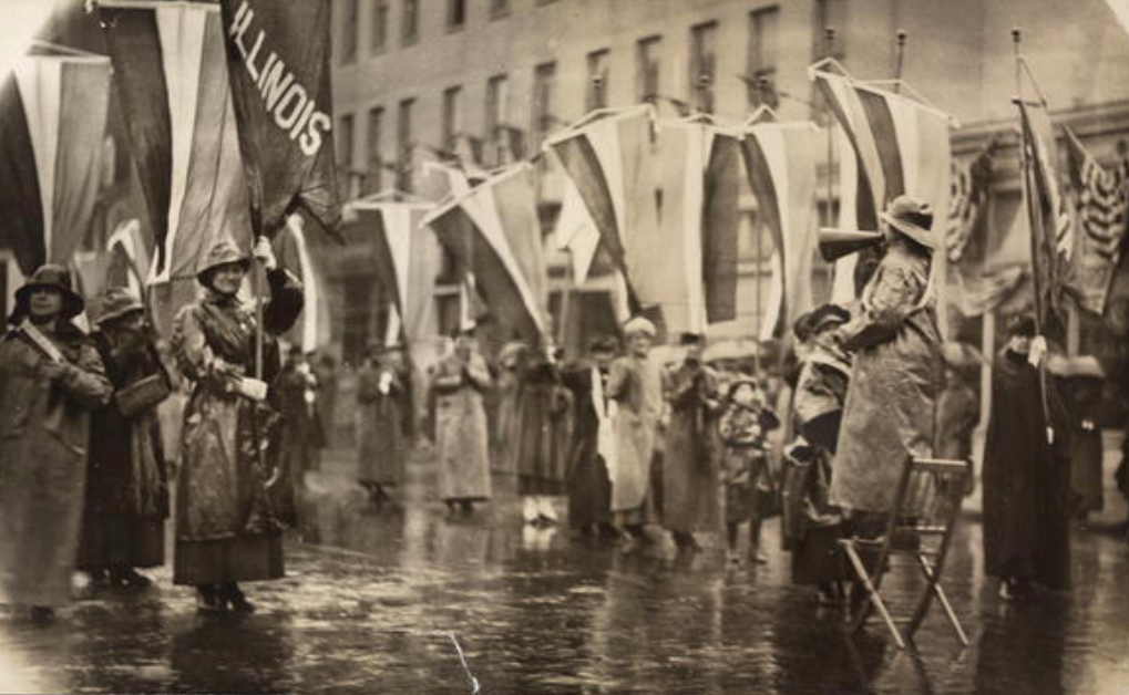 Grand Picket at the White House, eve of President Woodrow Wilson's second inauguration