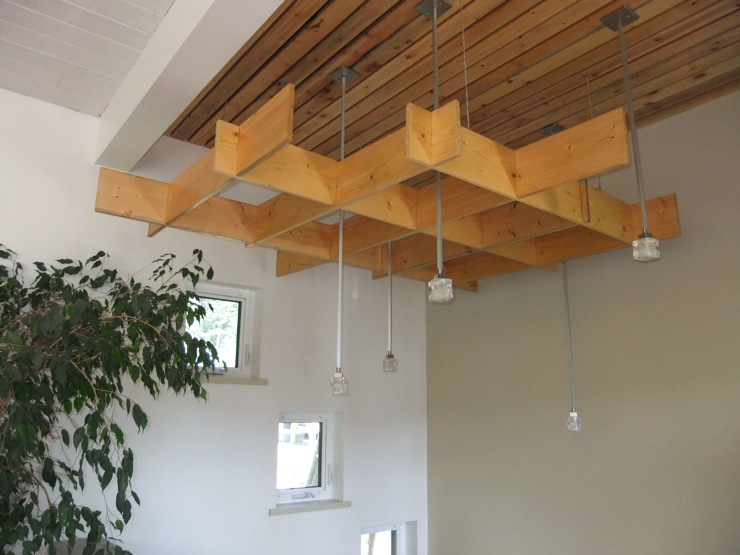 Lights over stairwall