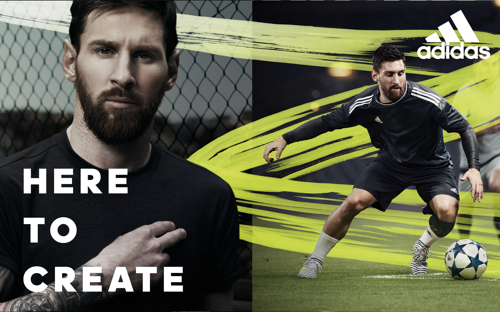 Adidas 2017 Here To Create Advertising Campaign Stevie Gee