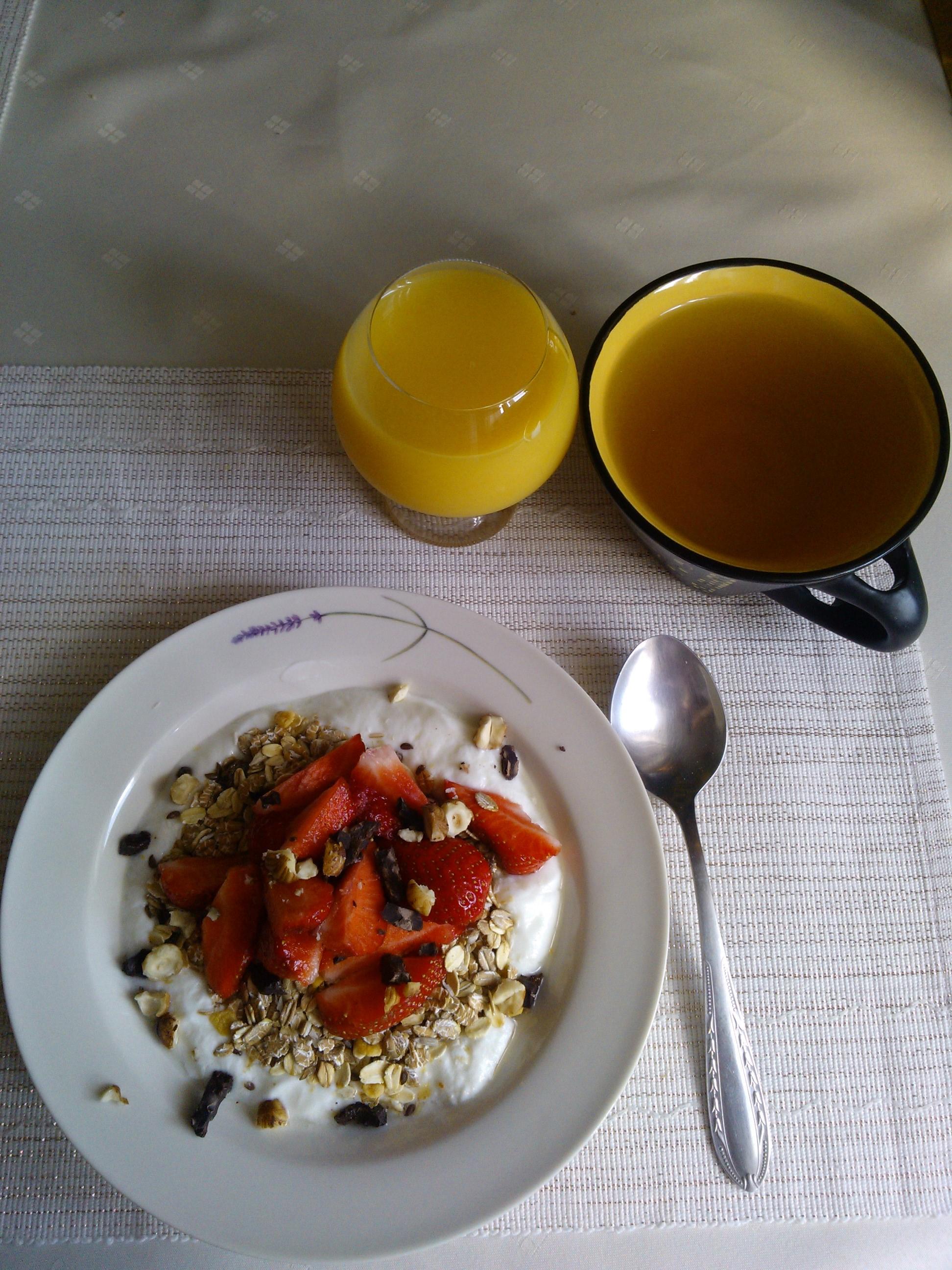 letná verzia raňajok