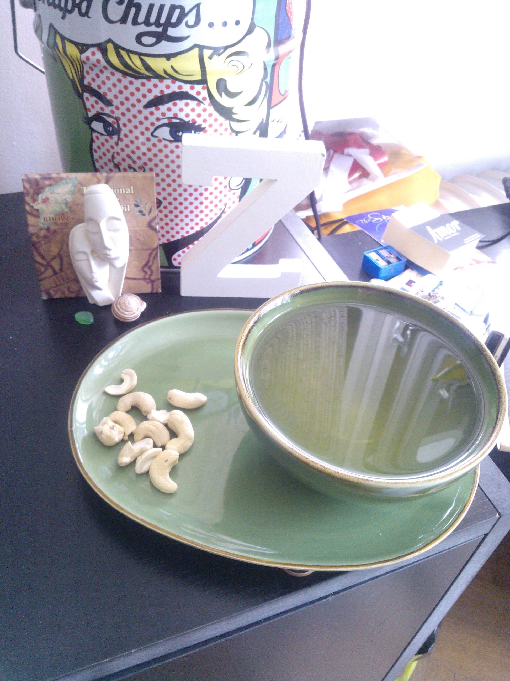 Zelený čaj a kešu