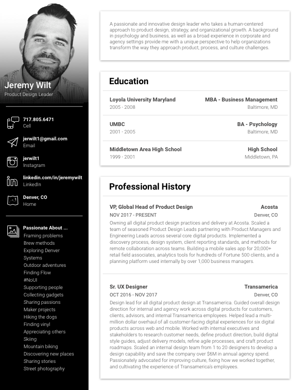 Resume - I'd love to discuss the challenges you're facing and explore opportunities to work with you!