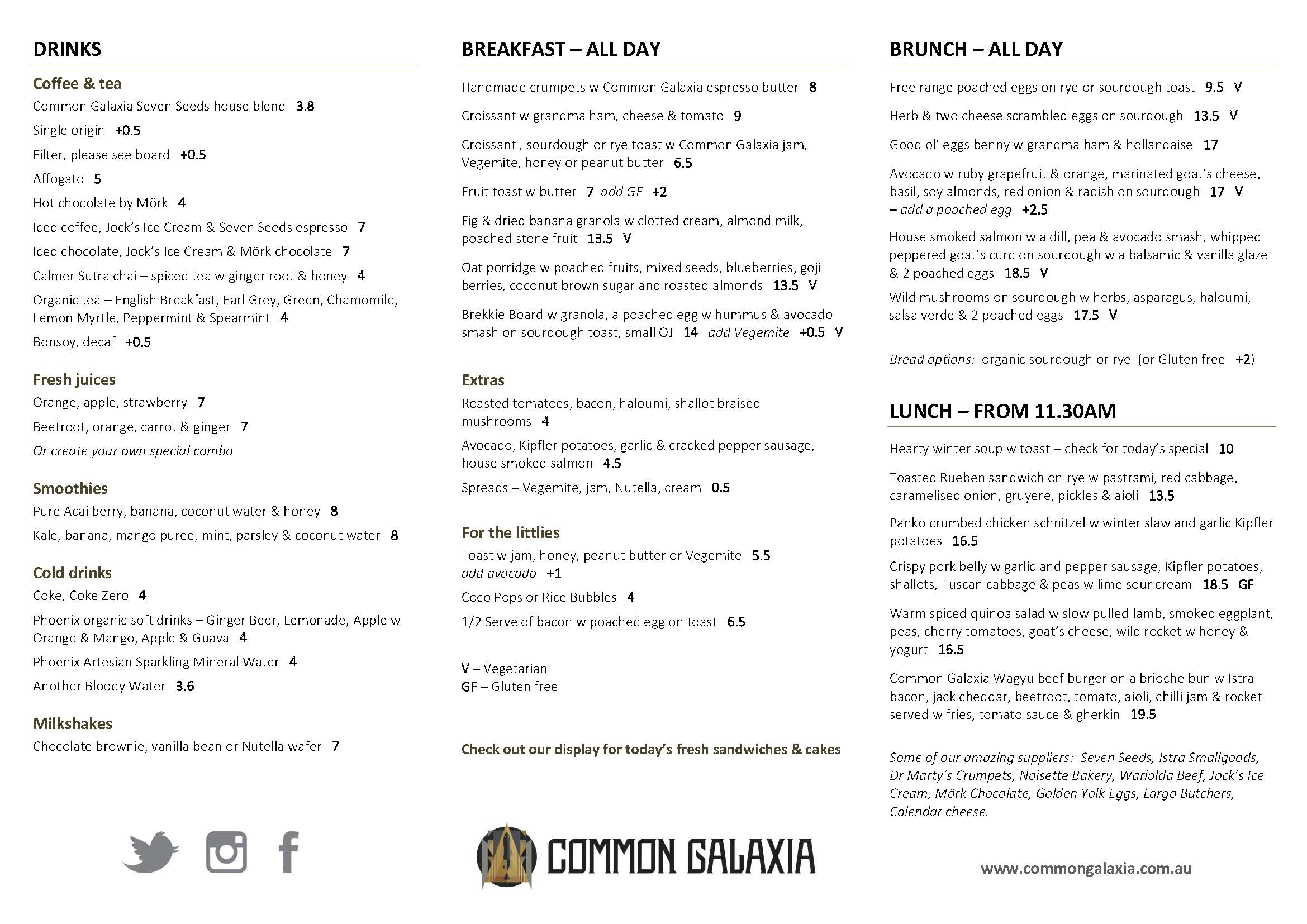 Click on the menu to enlarge  PDF Version
