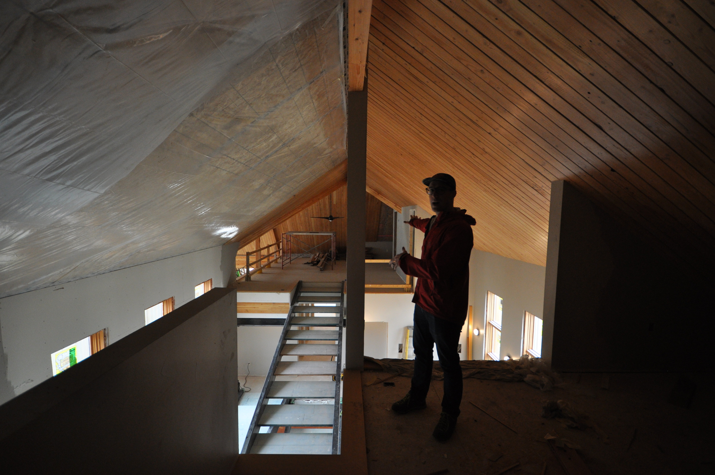 Using SIP panels allowed us to take advantage of the loft space above all the rooms.