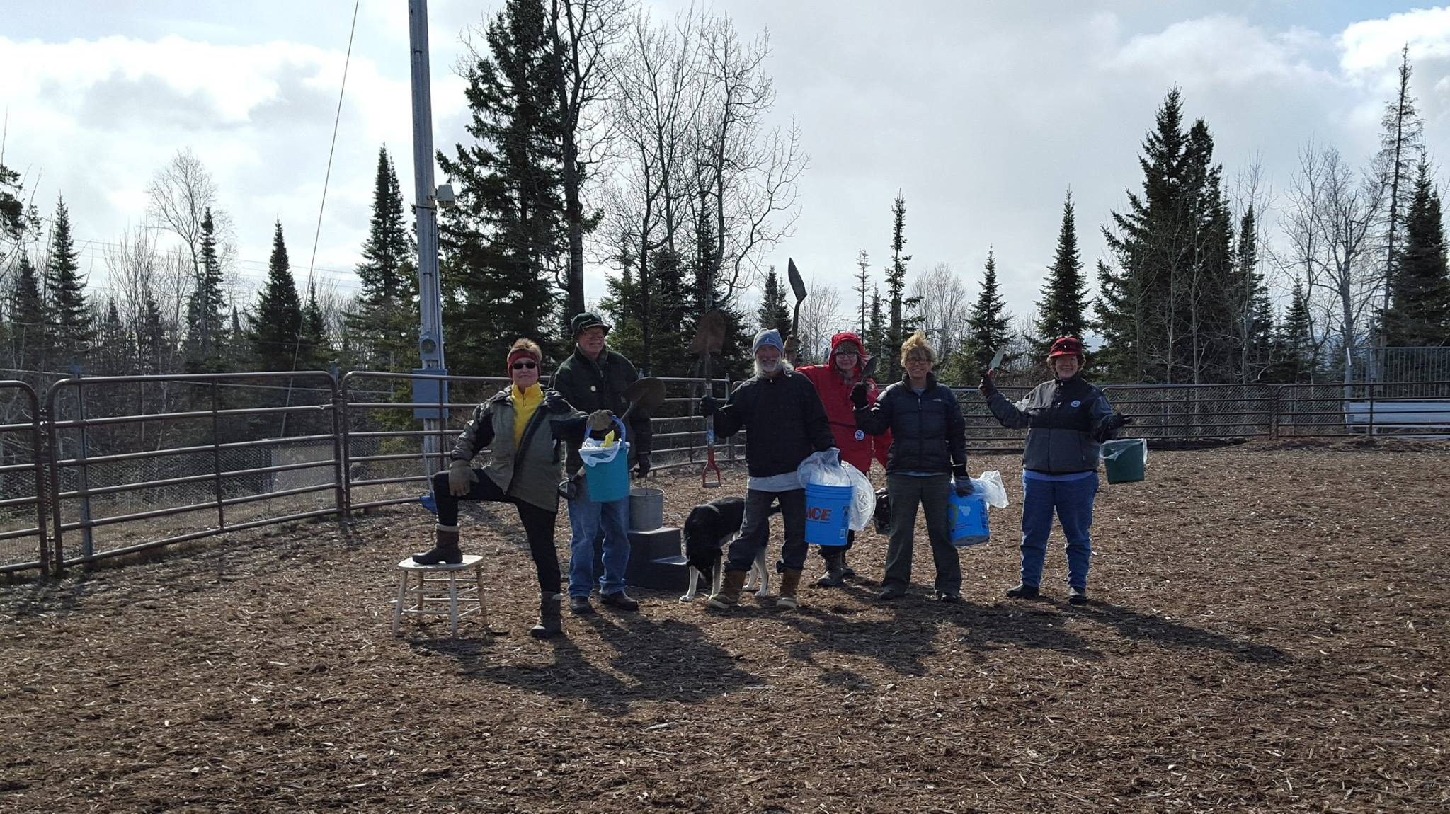 Volunteers perform spring clean-up after a busy winter at the park.