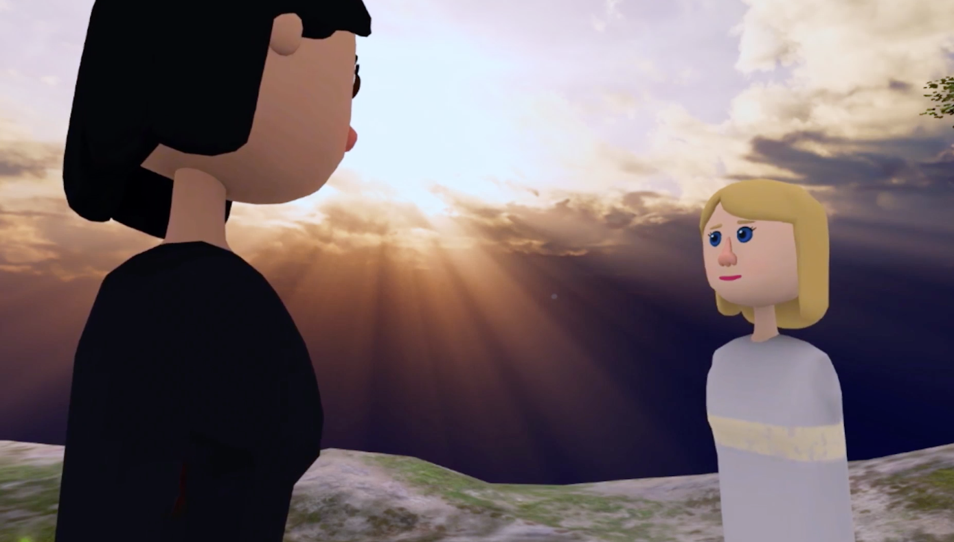 A still from, I Love You Bot, from director, Roxy Hunt's VR POV camera.