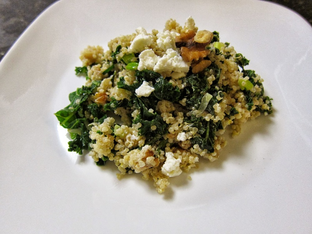 kale and quinoa pilaf
