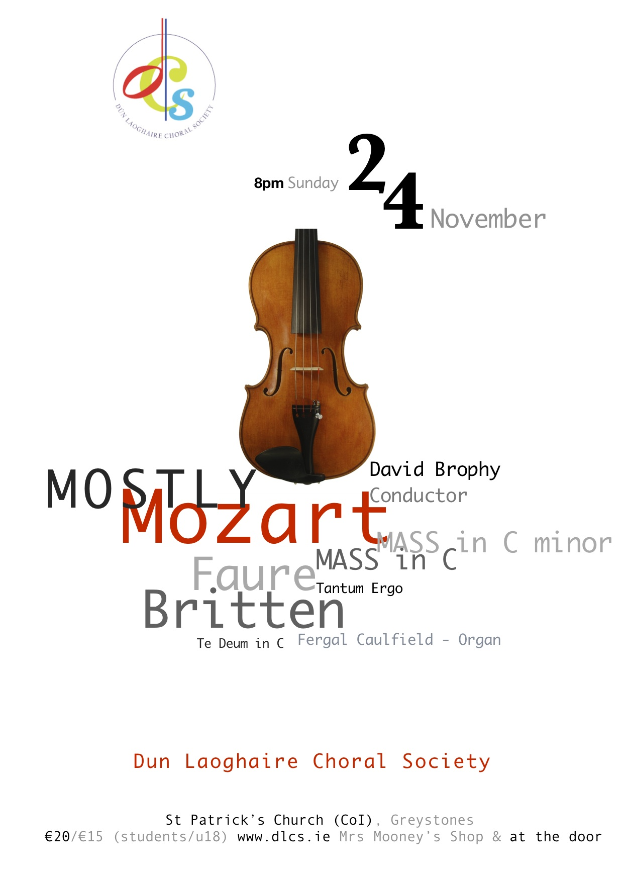 """""""Mostly Mozart"""" Concert by Dun Laoghaire Choral Society, 24 November 2013"""