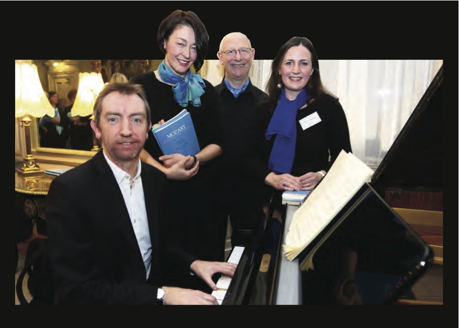 David Brophy, Michi Eidt-Maharry, Jim Flavin & Lucy O'Reilly at the Mozart Mass launch at The Mansion House. Photo: Darren Kinsella