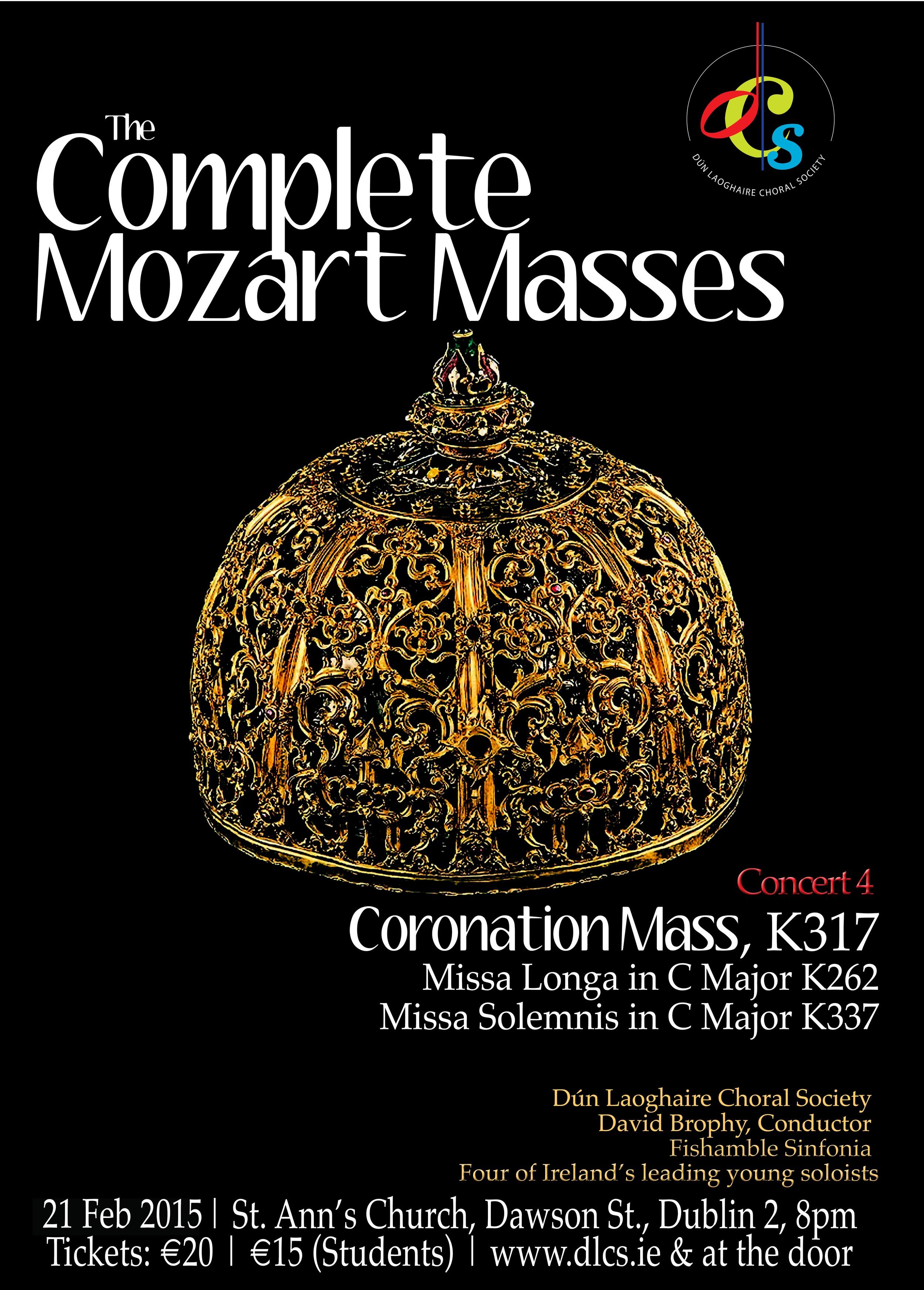 Mozart Coronation Mass poster