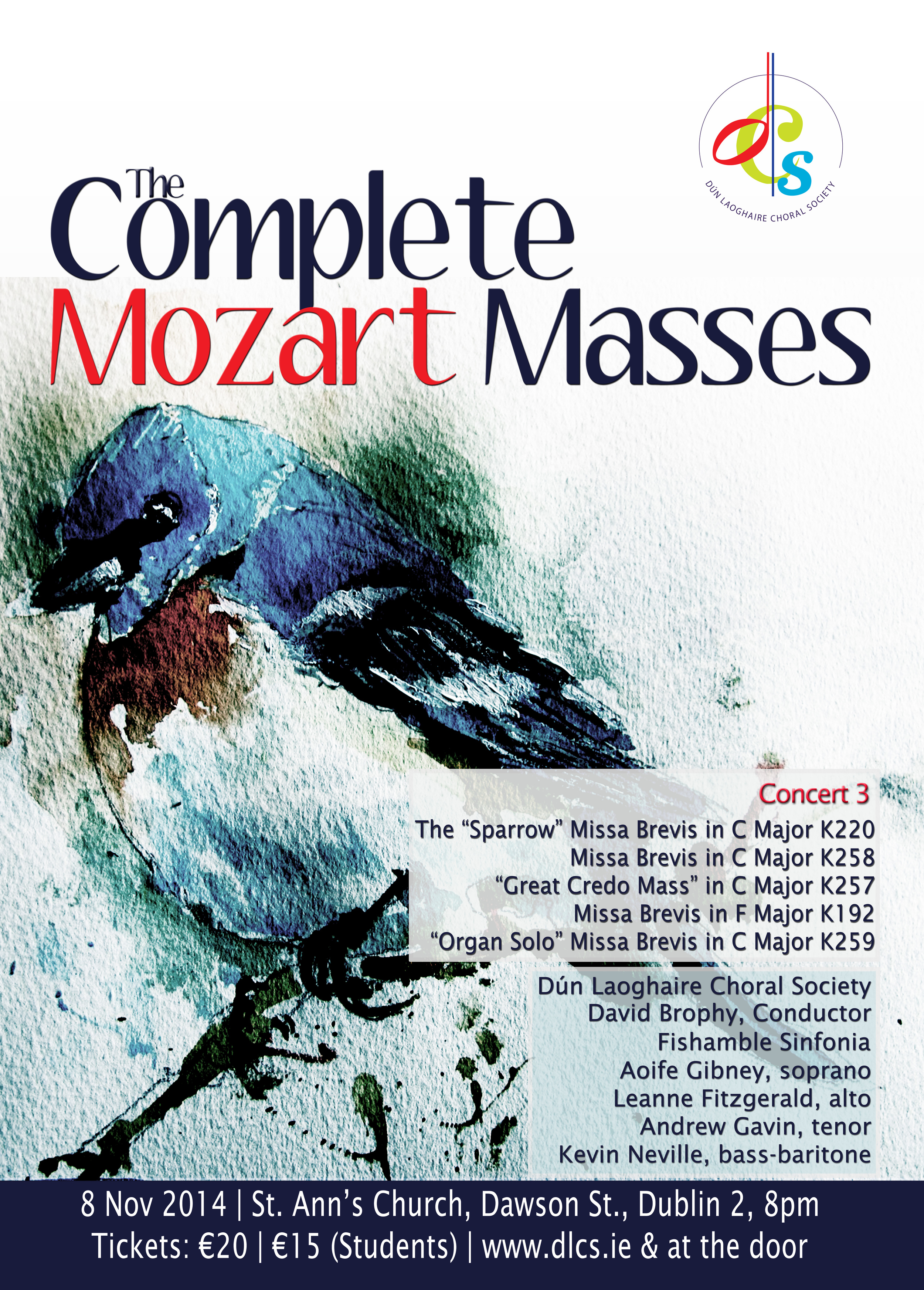 Complete Mozart Masses Concert 3, 8th November 2014