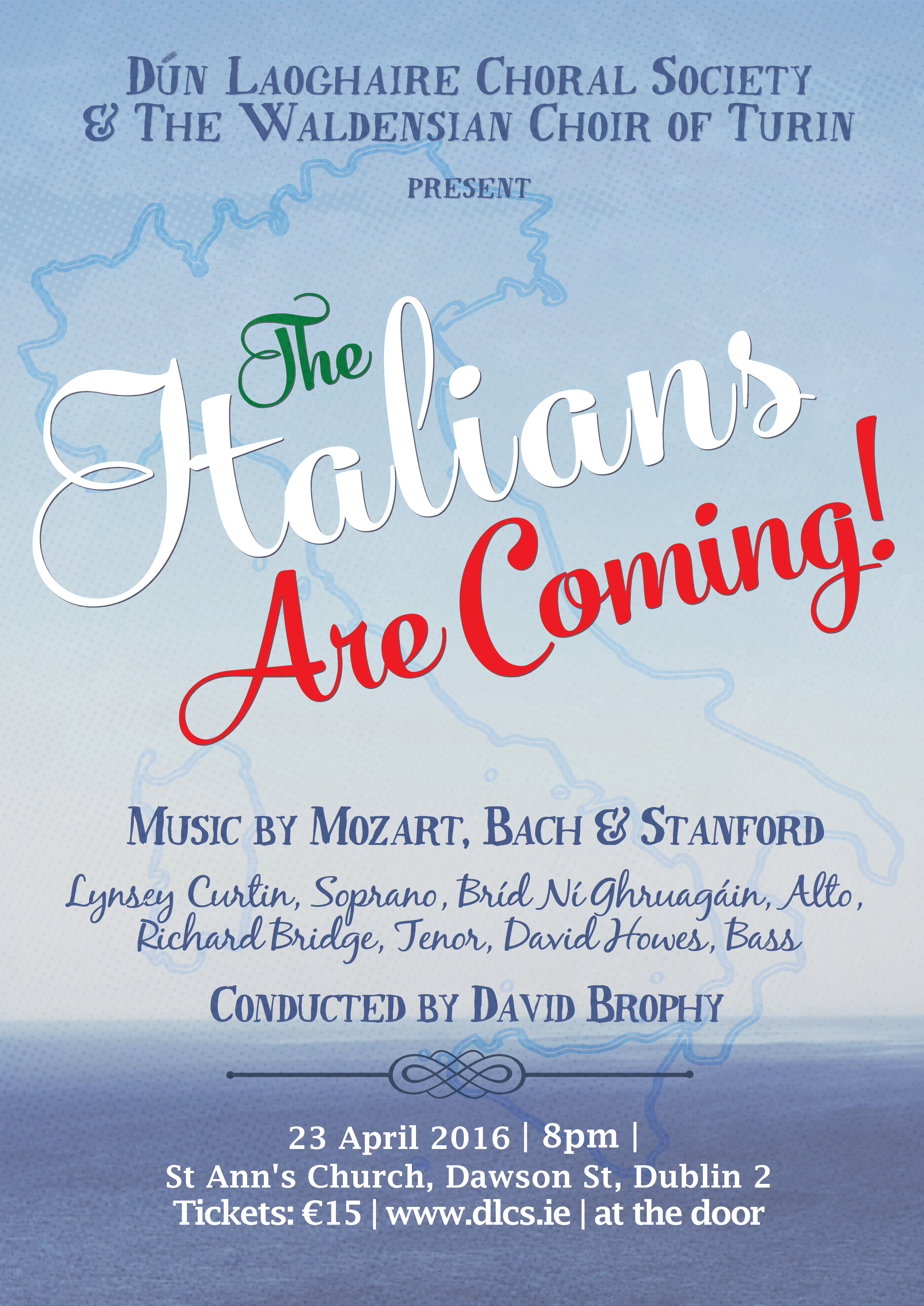 The Italians Are Coming! Concert poster