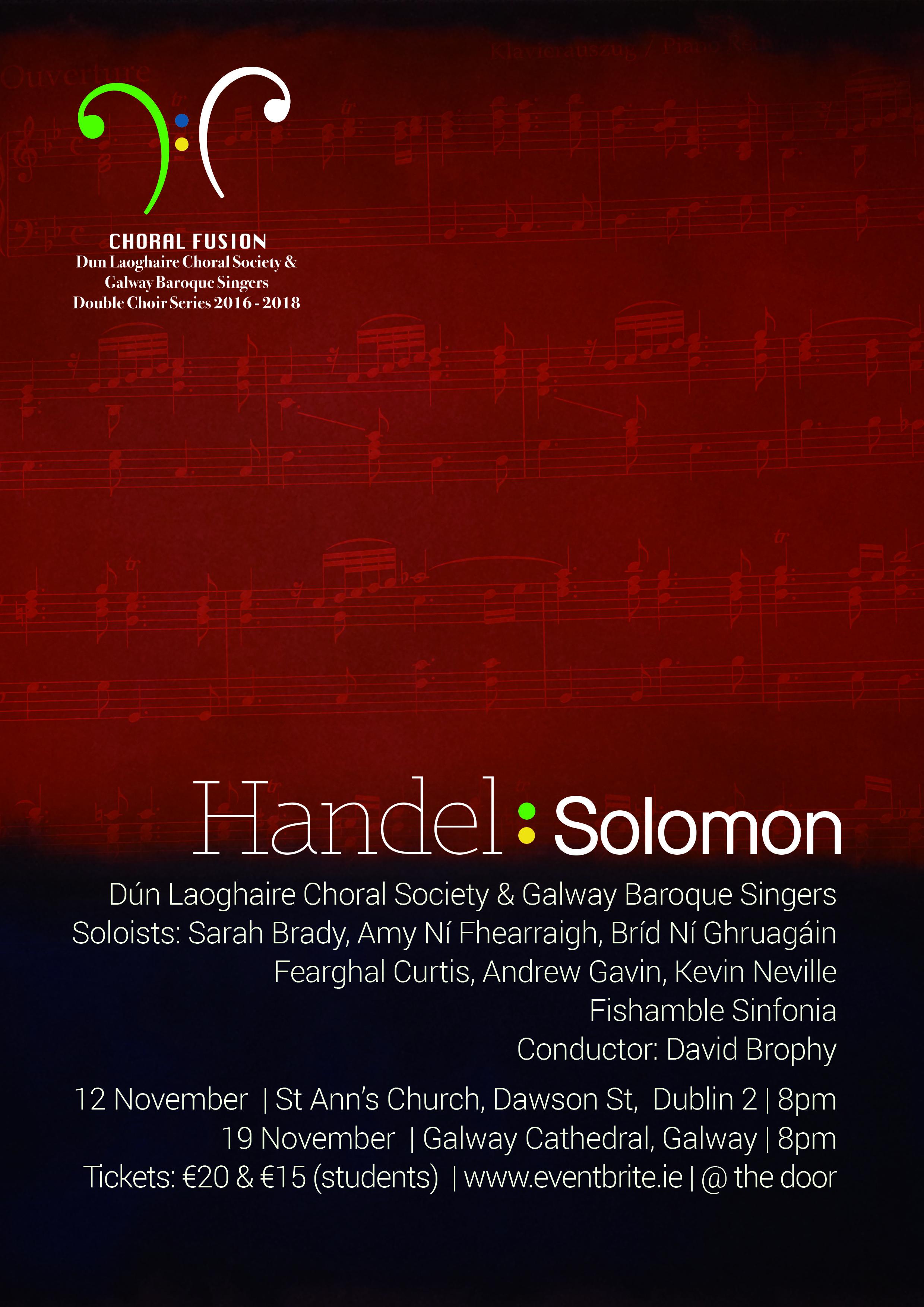 Handel's Solomon Poster