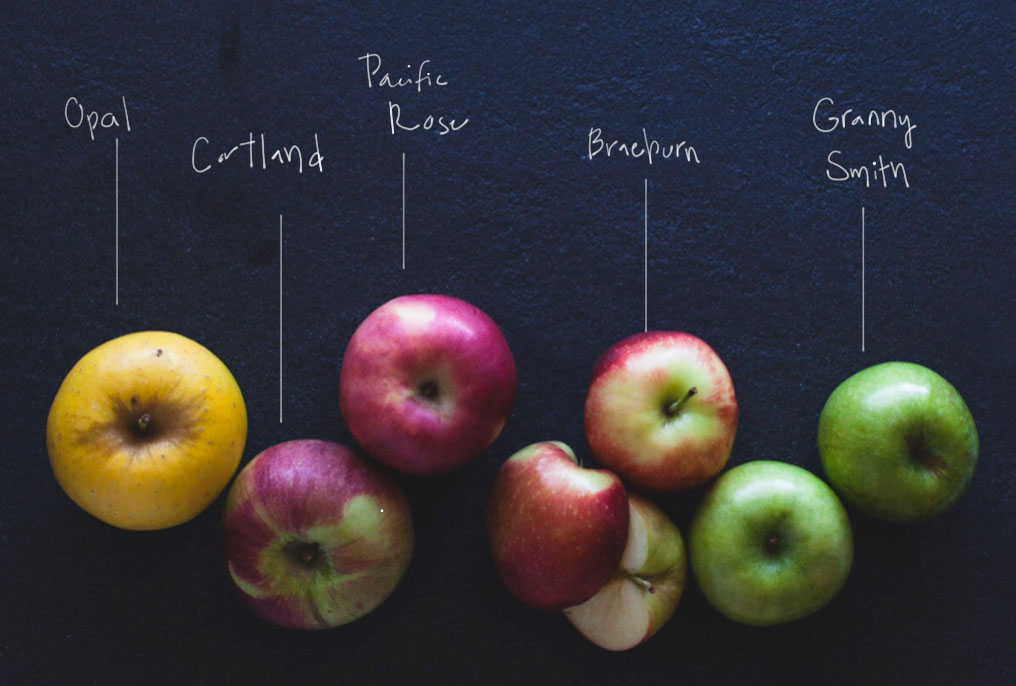 Apple varieties I used in my final pie.