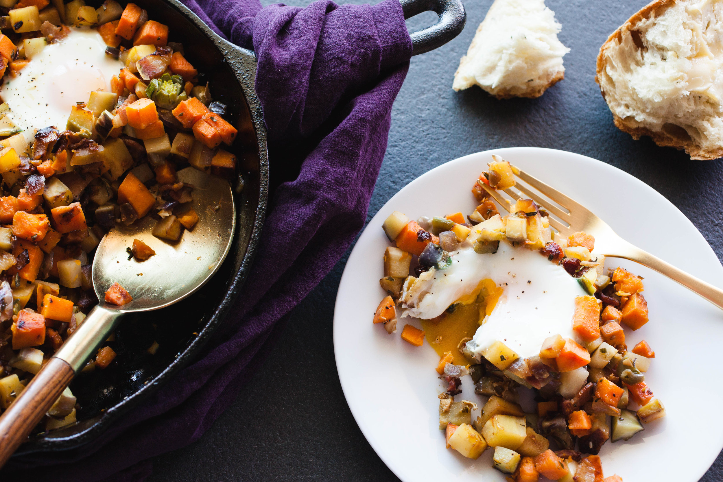 Kohlrabi and Root Vegetable Hash recipe
