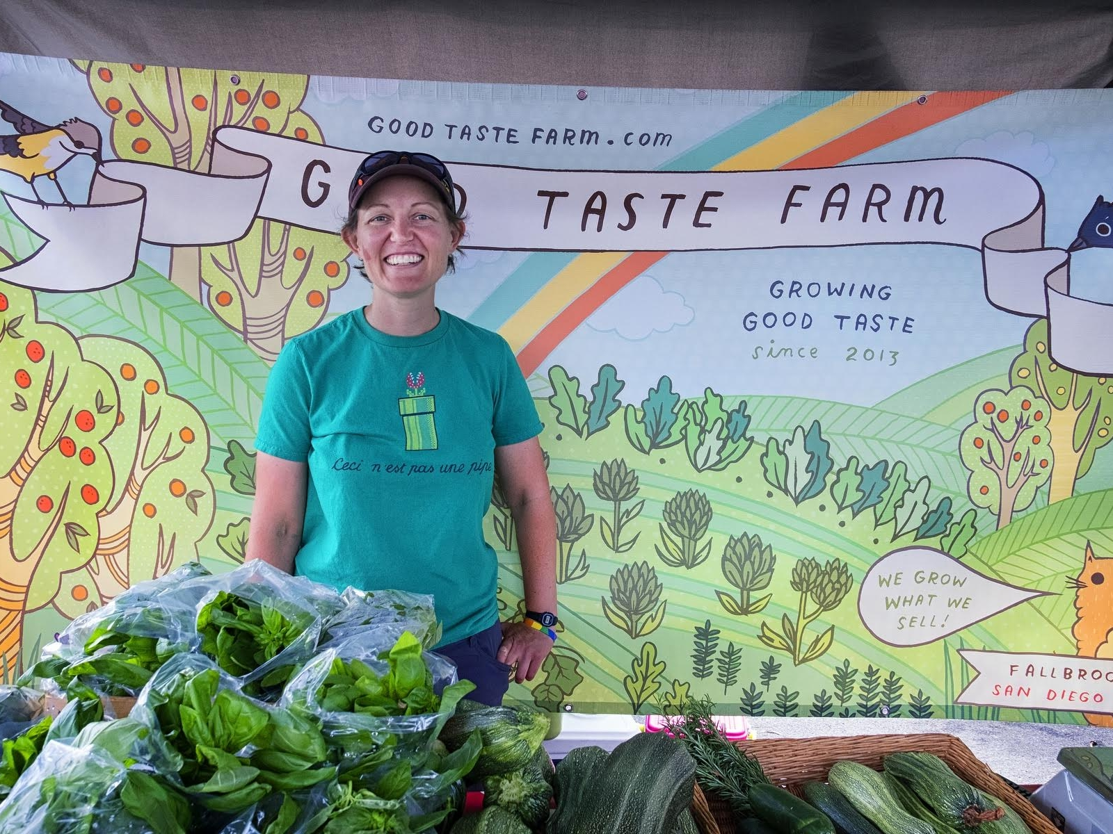 Kris - Farmer at Good Taste Farm  (photo by Van Chaplin)