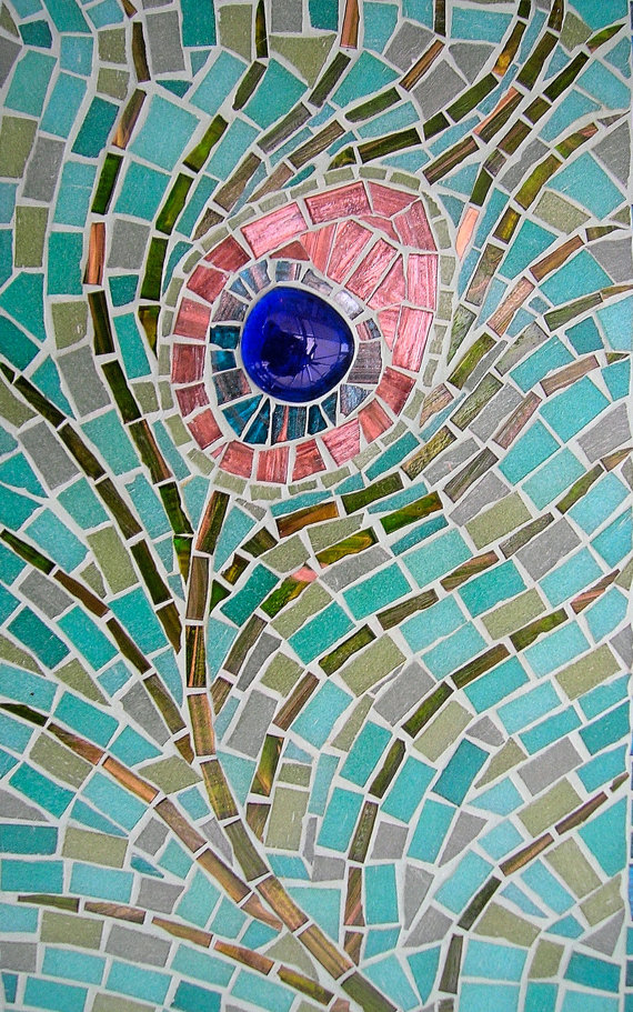 Peacock Feather Mosaic    by Lizzie Tucker