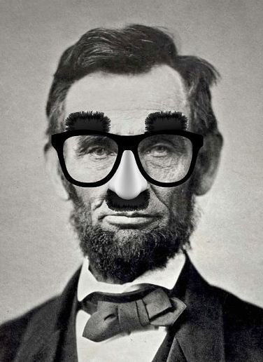 Abraham Lincoln in Disguise, Art Print from fringepop