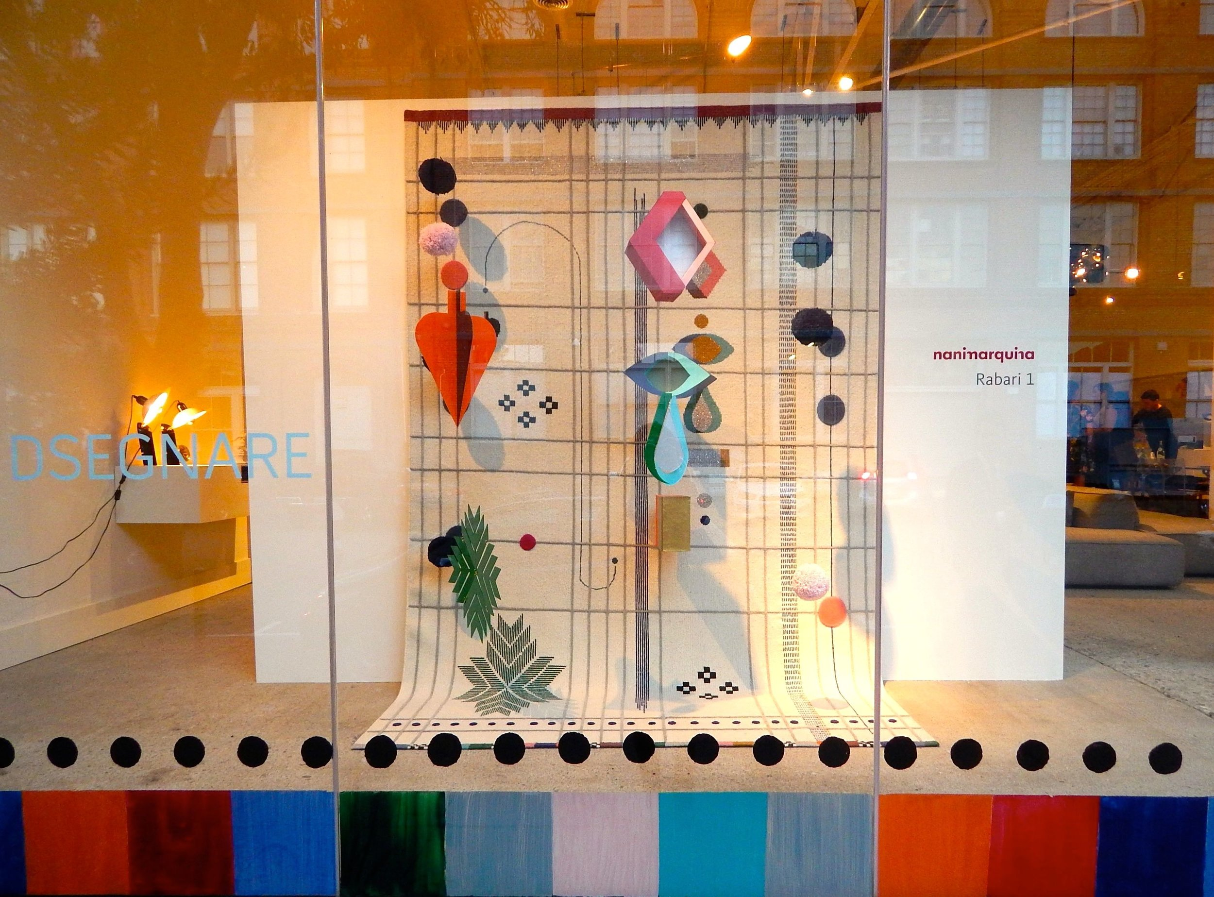 The new DSEGNARE window designed by Kelly Waters and her team.