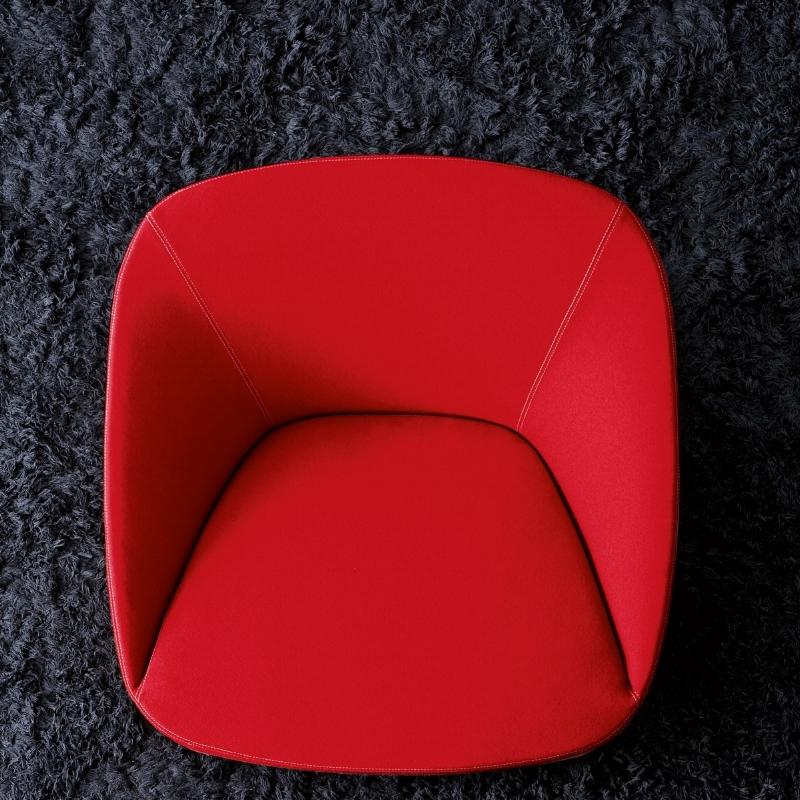 Bucket armchair.
