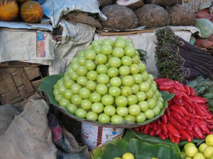Gooseberries in Ville Parle Fruit Market, Mumbai, India