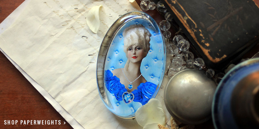 My Blue Valentine Paperweight