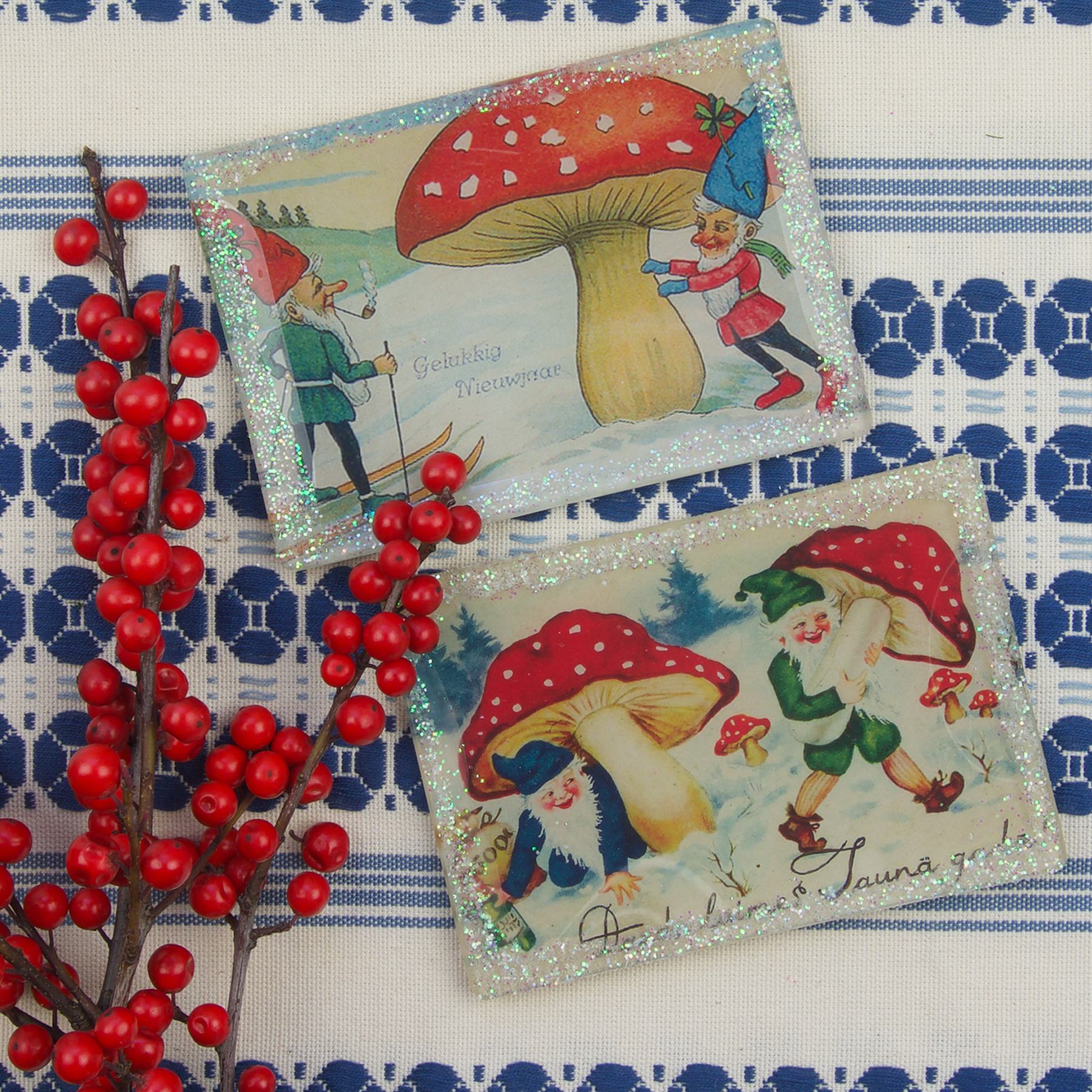 "Winter Elves Small Plate Gift Set (3 X 5"")"