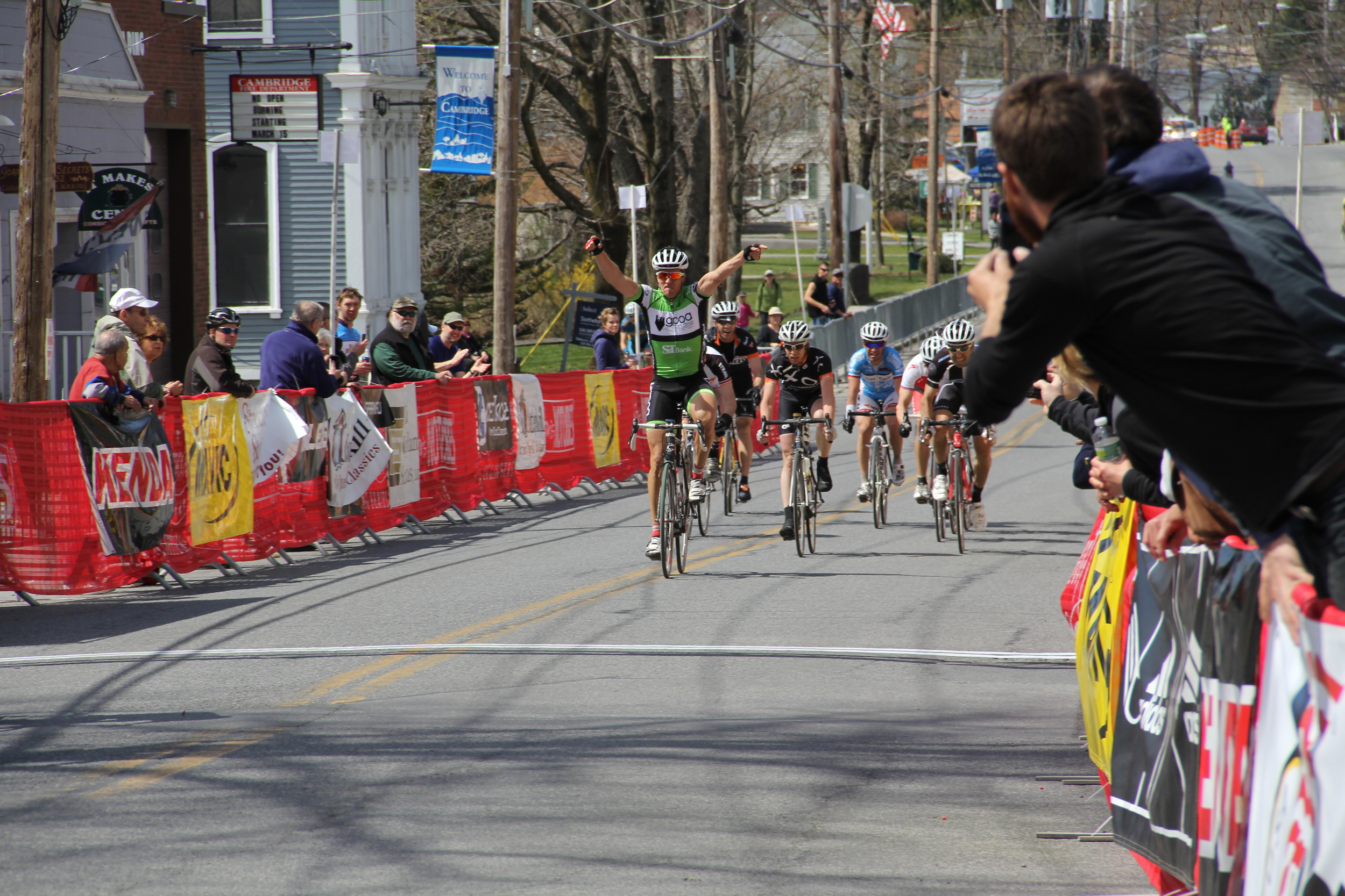 This is me winning the 30+ race at Battenkill in 2012, one week after I had been dropped at the Naval Yard Crit