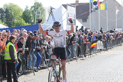 Robin wins the Puivelde Kermis in Belgium last week