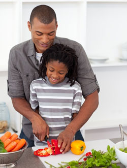 Cooking with your partner or parent can be fun and educational. Just make sure they don't cut your fingers off!
