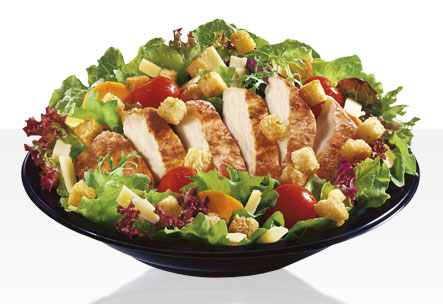 An example of a salad available at McDonalds.
