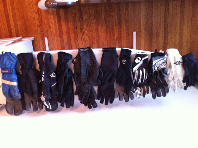 As you can see, I have lots of different glove options because I often have issues with cold hands