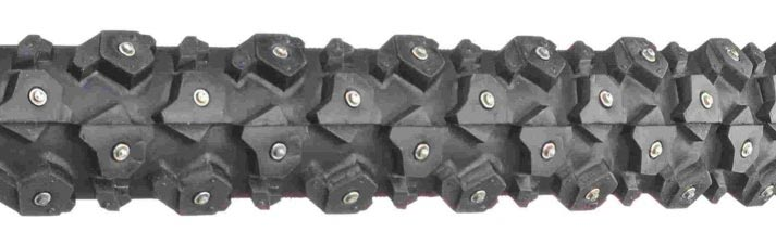 Example of a studded tire