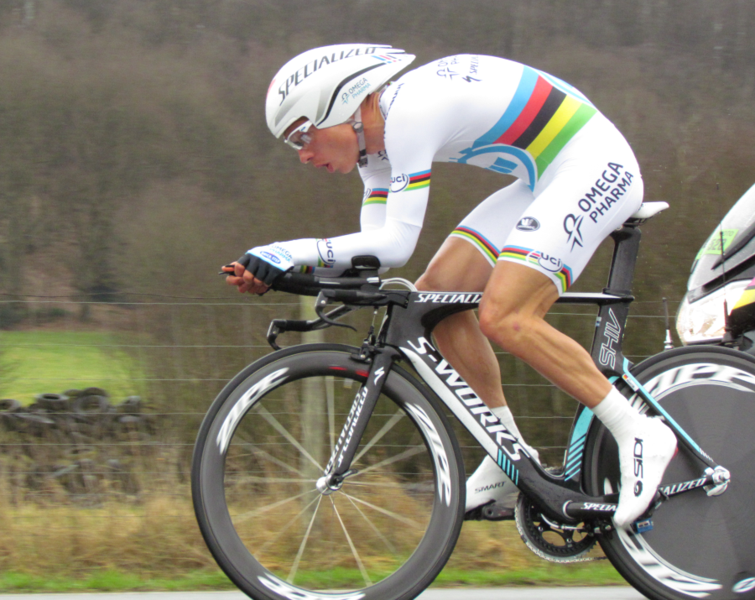Tony Martin, 3 time World time trial champion. He's done it with a great aerodynamically efficient position, excellent focus and the ability to sustain a really, really high power.